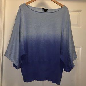 Women's blue sweater